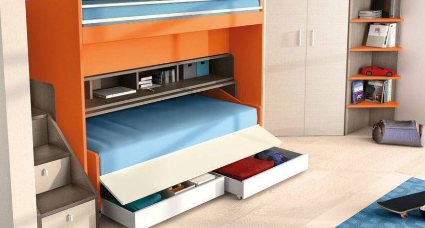 Kids Bedroom Space Saving Furniture Small Spaces