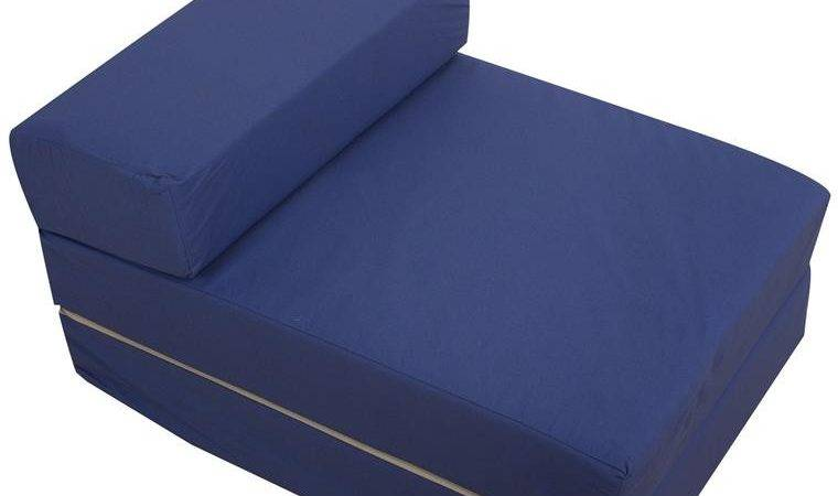 Kids Foam Fold Out Sleep Over Guest Single Futon Chair