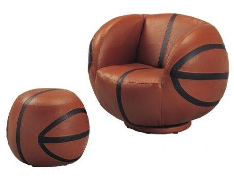 Kids Sport Chairs Basketball Chair Ottoman