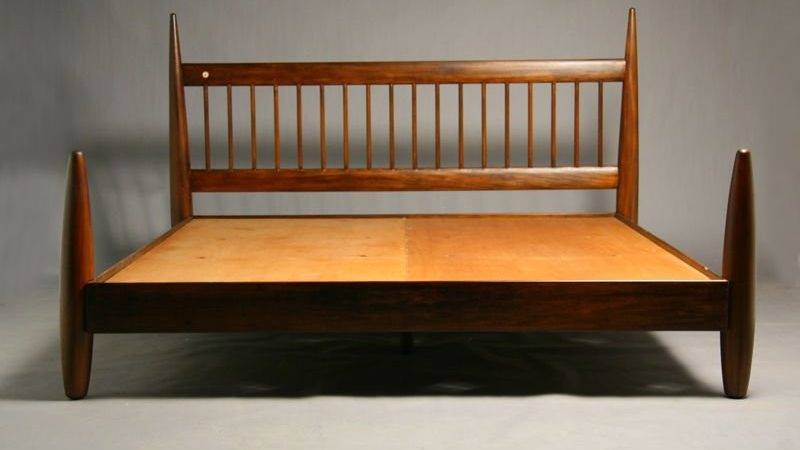 King Exotic Wood Bed Frame Sergio Rodrigues Stdibs