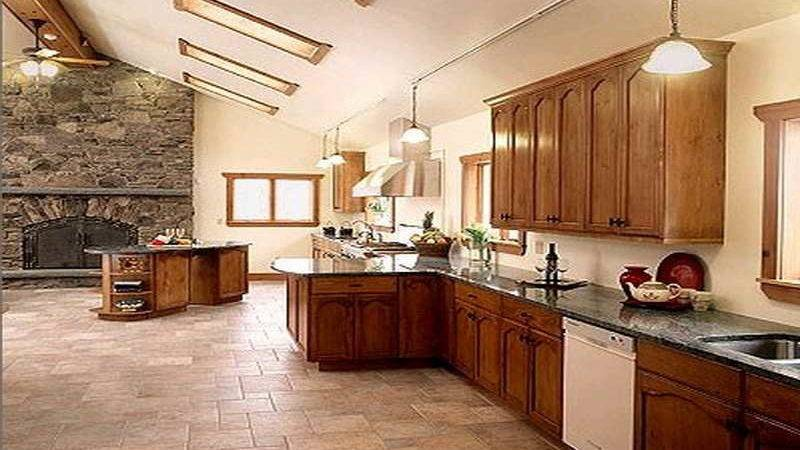 Kitchen Best Tile Floor Natural Color