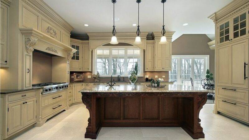 Kitchen Cabinet Refacing Ideas Two Tone Color
