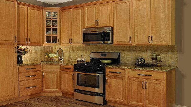 Kitchen Color Ideas Oak Cabinets Corner