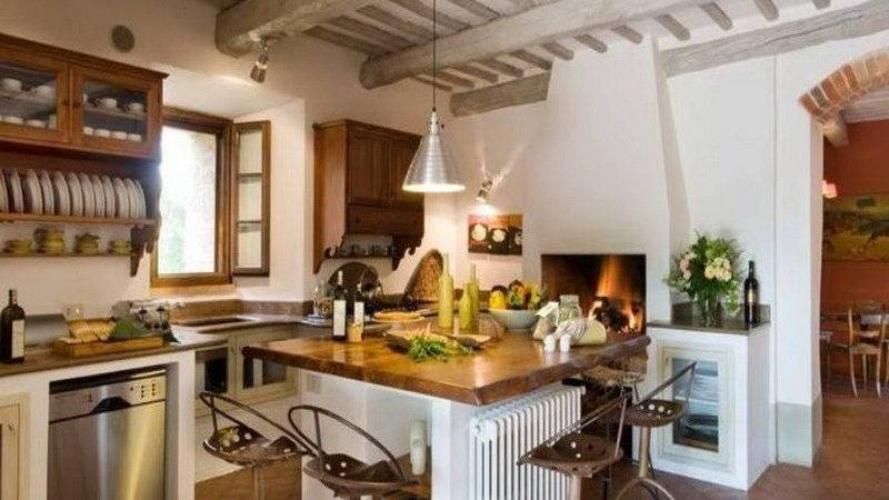 Kitchen Contemporary Wooden Italian Decorating Ideas