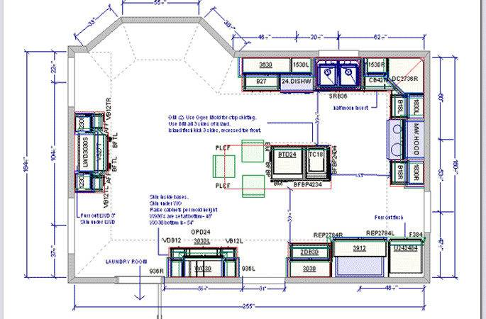 Kitchen Drafting Service Design Plans