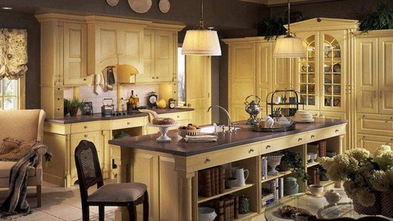 Kitchen French Country Cabinet Decorating Ideas