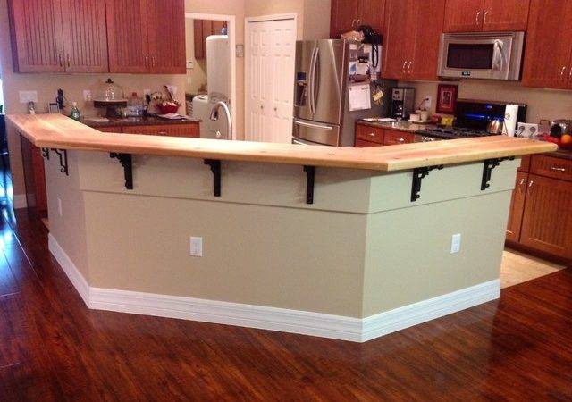 Kitchen Island Bar Top Traditional Tampa