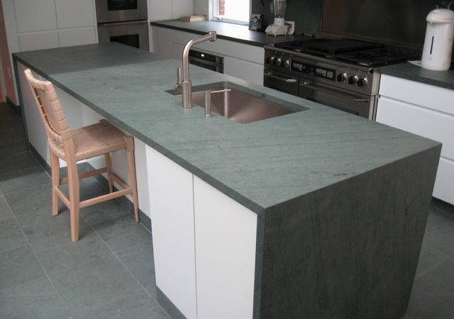 Kitchen Island Slate Countertop Flooring