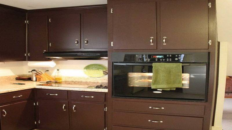Kitchen Natural Brown Cabinet Painting Color