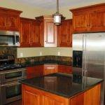 Kitchen Remodeling Cherry Wood Cabinets Black