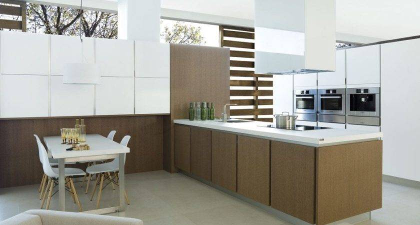 Kitchen Shiny White Cabinets European Style Modern High