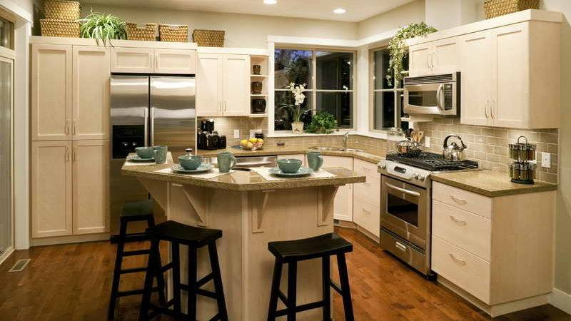 Kitchen Small Remodel Wooden Chair