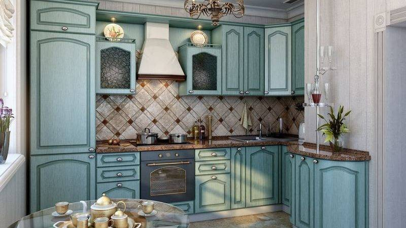 Kitchens Traditional Blue Kitchen Cabinets