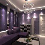Ktv Interior Design Purple Sofa House