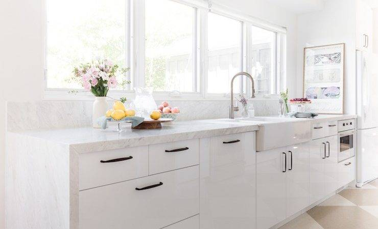 Lacquered Kitchen Cabinets Transitional