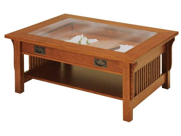 Lancaster Glass Top Coffee Table Shipshewana Furniture