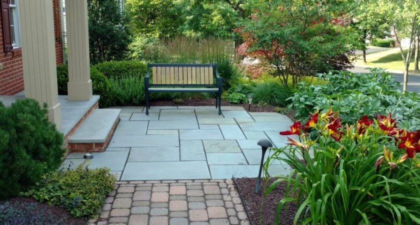 Landscaping Ideas Around Patio Pressed Concrete Landscape