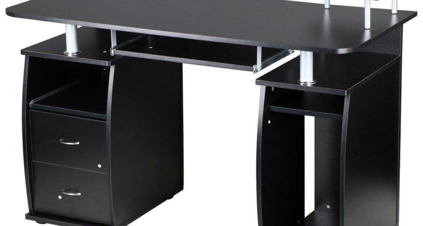 Large Computer Desk Office Work Station Table Monitor