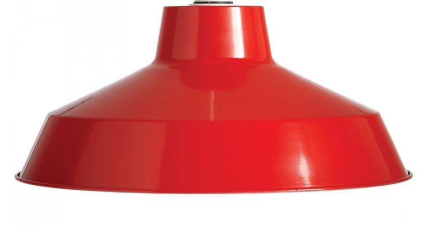 Large Dual Fitting Pluto Metal Lighting Pendant Shades Red