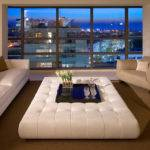 Large Leather Ottoman Living Room Coffee Table Decoist