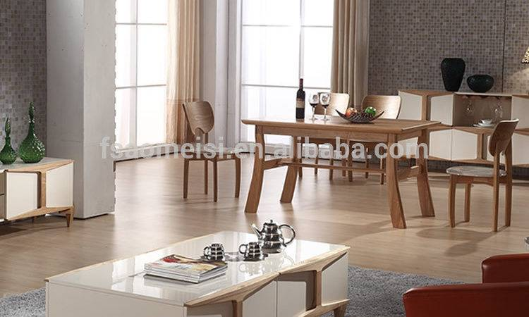 Latest Modern Wooden Marble Top Dining Table Glass