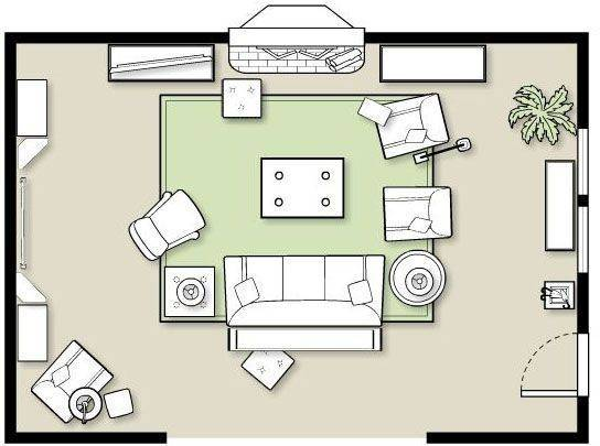 Layout Living Room Furniture Peenmedia