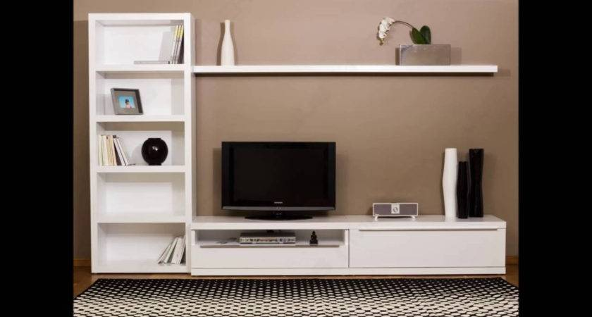 Lcd Furniture Living Room Cabinet Wall Unit