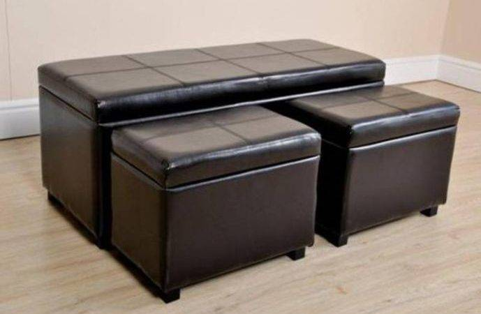 Leather Ottoman Coffee Table Storage Its Long