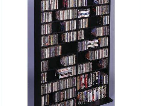 Leslie Dame Deluxe Dvd Media Storage Wall Unit Rack Black