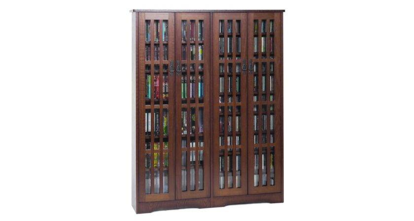Leslie Dame Inlaid Glass Storage Cabinet Holds