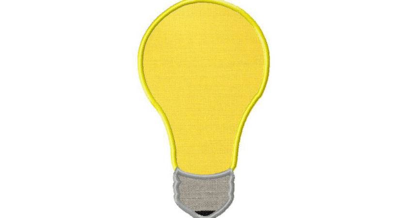 Light Bulb Design Embroidery