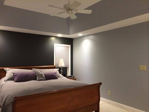 Light Grey Walls White Trim Bedroom Contemporary Tray