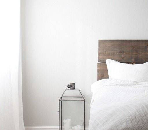 Light Grey Walls Wooden Floor White Curtains
