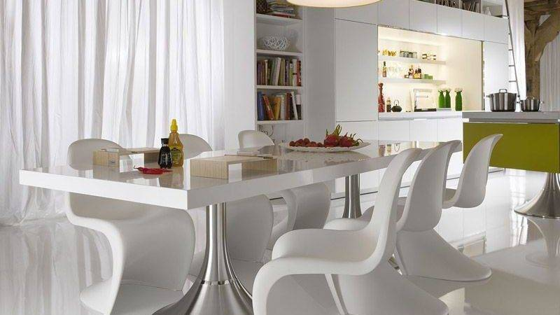 Light White Dining Interior Unique Chairs Modern