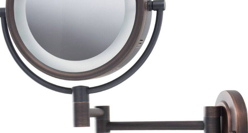 Lighted Makeup Mirror Wall Mount Reviews Home Design Ideas