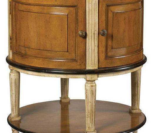 Lilles Round Nightstand Cherry Contemporary