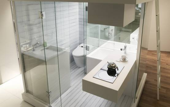 Live Small Space Bathroom Interior Design