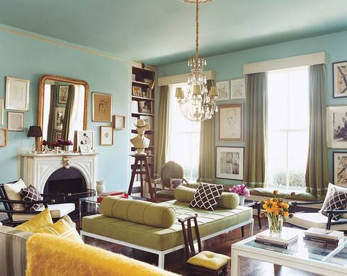 Living Room Blue Walls Flickr Sharing