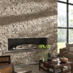 Living Room Comfy Stone Fireplaces Home Interior