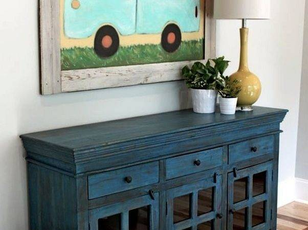 Living Room Cute Buffet Cabinet Plant