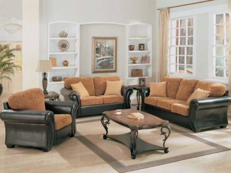 Living Room Fabric Sofa Sets Designs Home Decorating