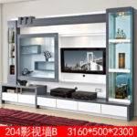 Living Room Furniture Lcd Wall Unit Wood Led