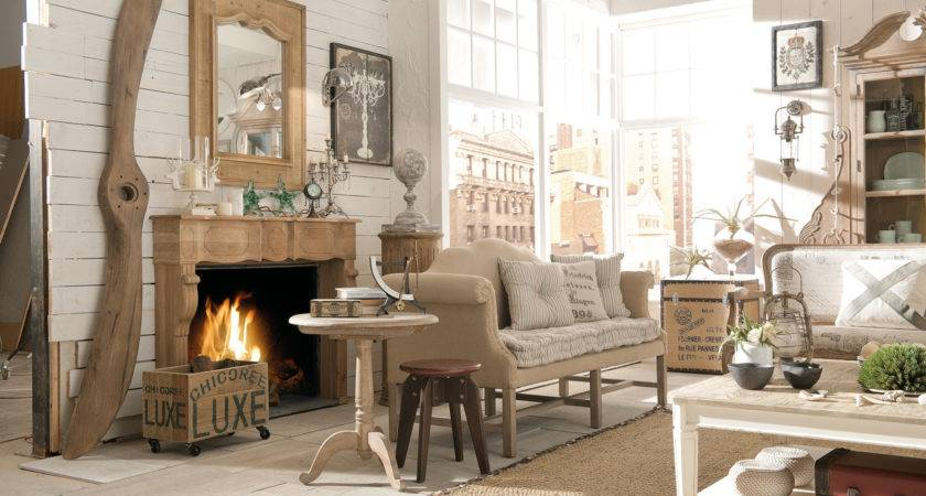 Living Room Industrial Style Rooms Rustic Chic