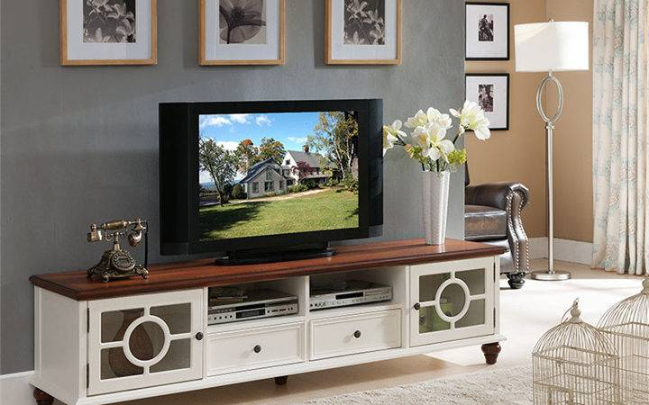Living Room Modern Cabinet Lift Stand White