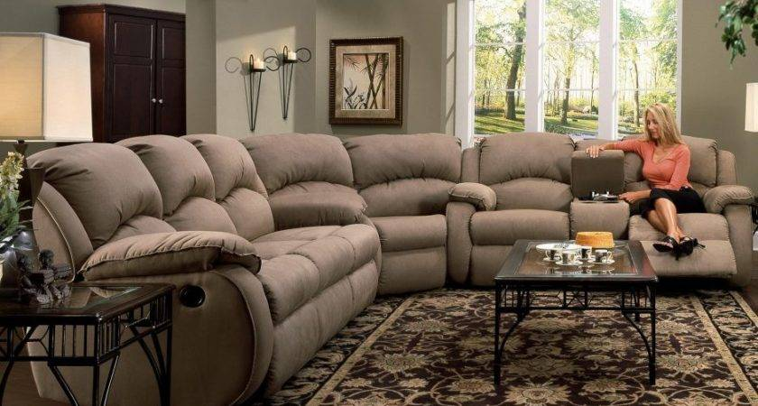 Living Room Sectionals Sofas Reclining Leather Sectional