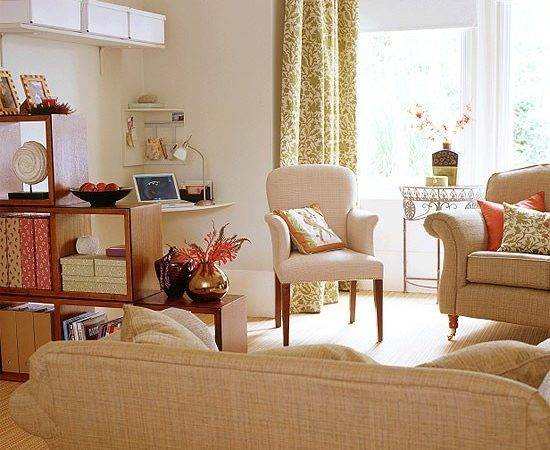 Living Room Stylish Office Area Housetohome