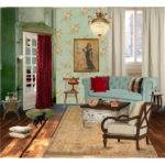 Living Room Vintage Style Polyvore