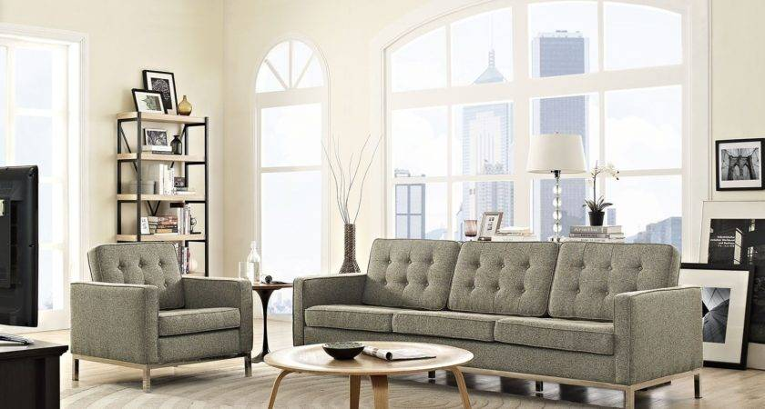 Loft Oatmeal Piece Upholstered Living Room Set Eei