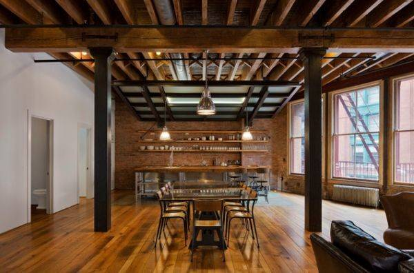 Lofts Featuring Industrial Touches Gives