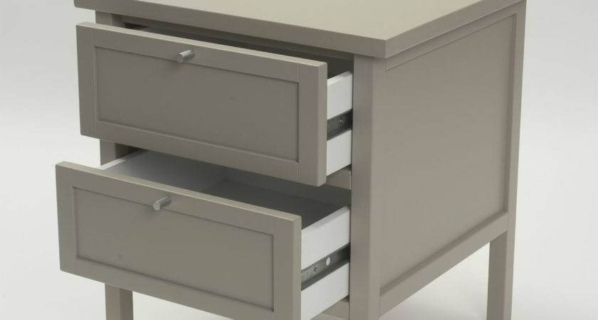 Long Island Bedside Table Chalk Putty Home